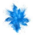 Blue powder explosion isolated on white - PhotoDune Item for Sale