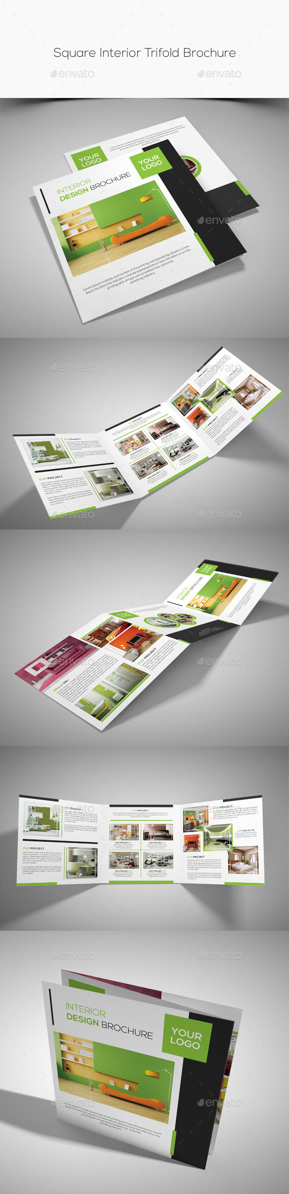 GraphicRiver Square Interior Trifold Brochure 10292707
