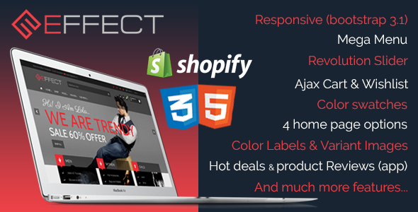 ThemeForest Effect Responsive Shopify Theme 10293000