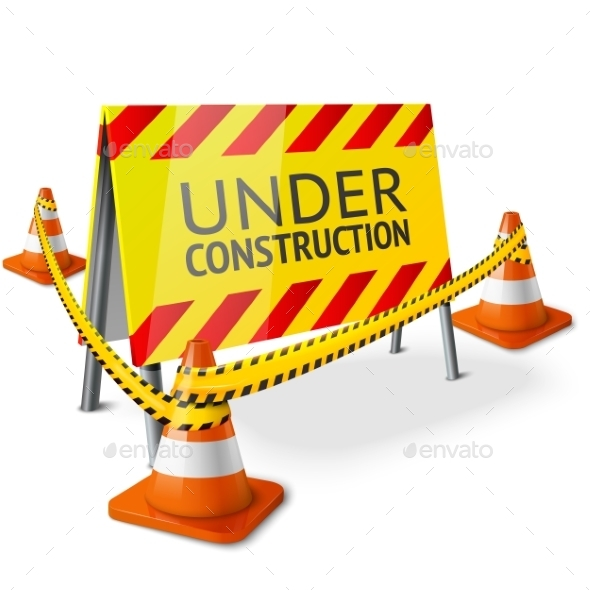 GraphicRiver Bright Under Construction Sign 10293031