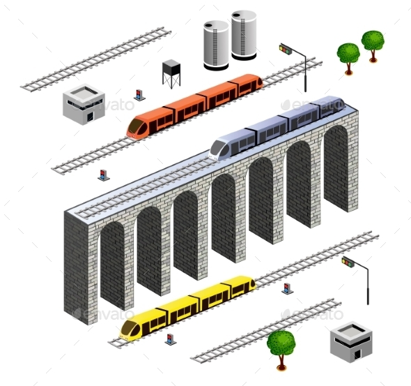 GraphicRiver Isometric Railroad 10293424