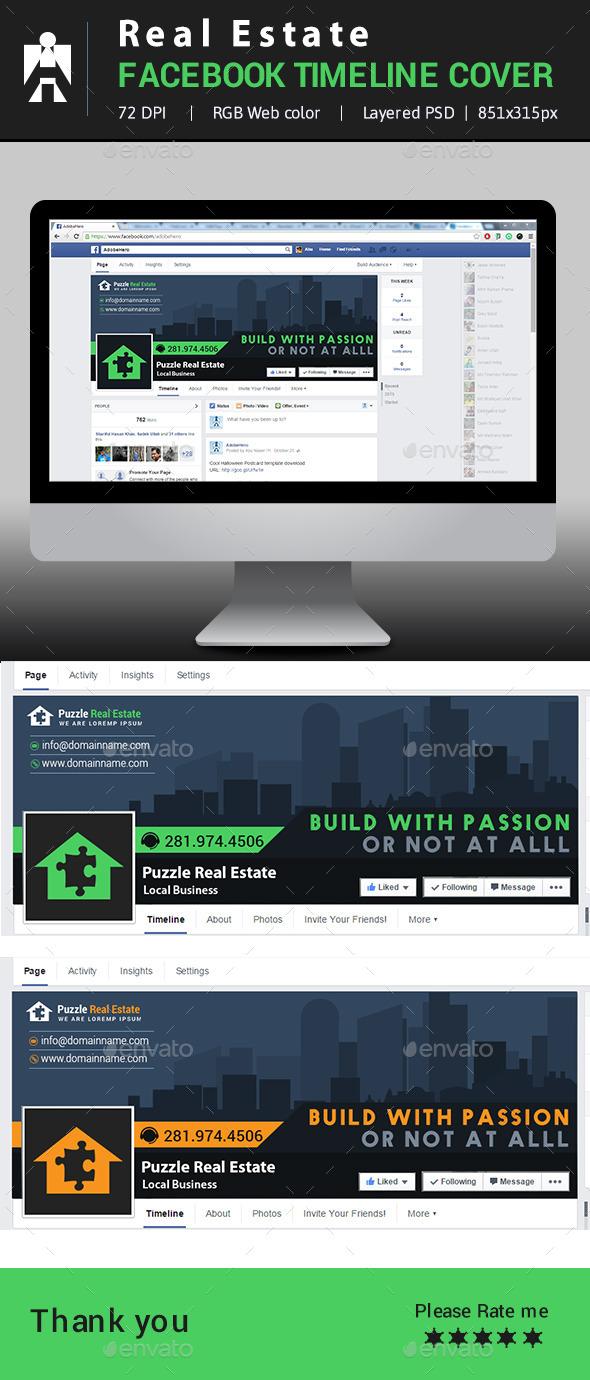 GraphicRiver Real Estate Facebook Timeline Cover 10293438
