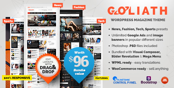 ThemeForest - GOLIATH v1.0.32 - Ads Optimized News & Reviews Magazine 9670200 - Free Download