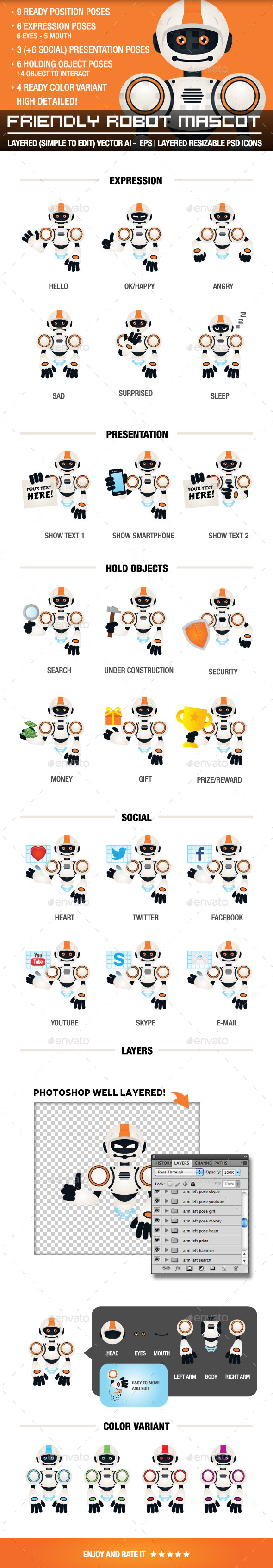 GraphicRiver Friendly Robot Mascot 10293882