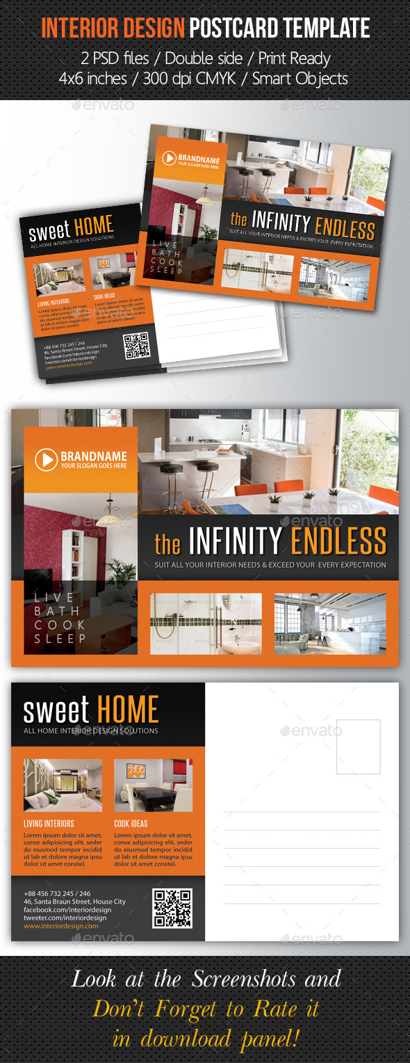 GraphicRiver Interior Design Postcard Template V05 10294016