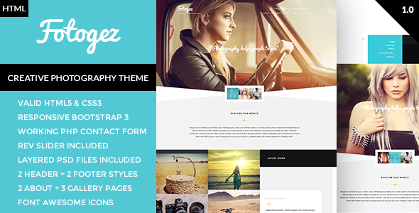 ThemeForest Fotogez Creative Photography and Portfolio Template 10193159