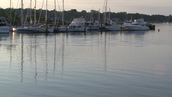 Boats Moored At Early Morning 2 Of 2