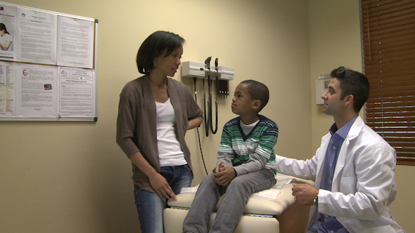 Mom Tells Doctor About Child s Symptoms
