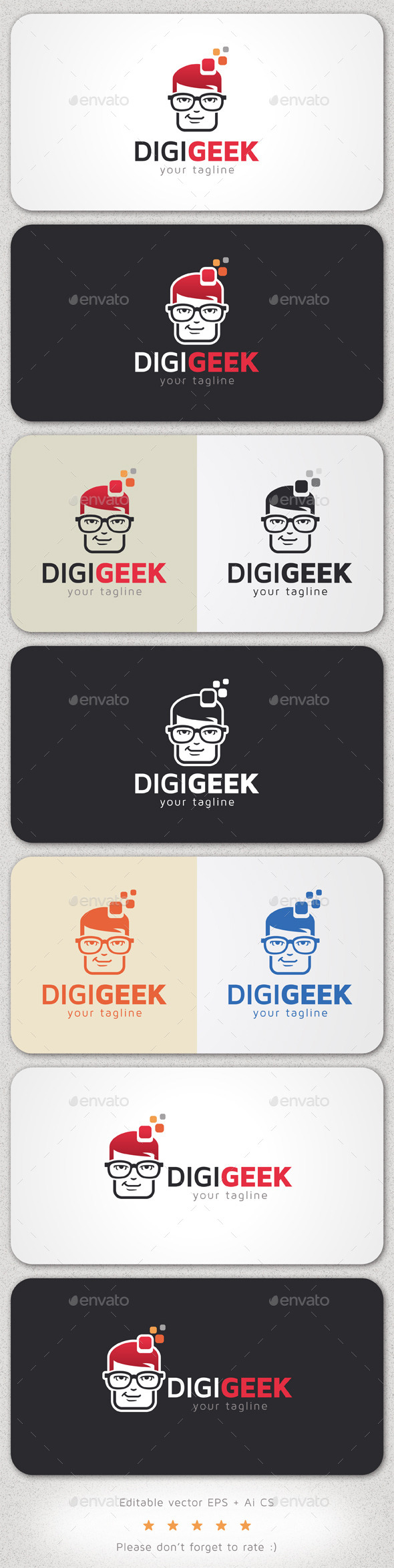 GraphicRiver Digital Geek Logo 10295633