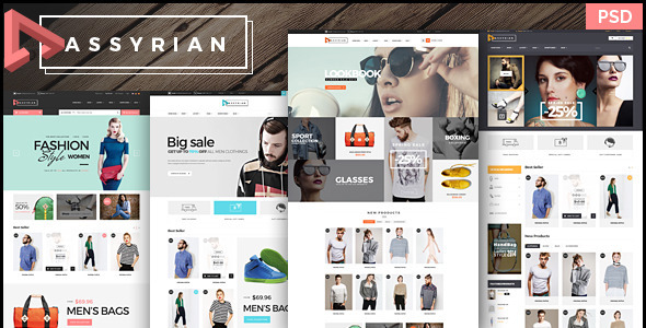 Assyrian - Ecommerce PSD Template Download