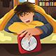 Sleeping Man Turning Off Alarm