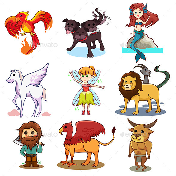 GraphicRiver Fairy Tale Icons 10297192