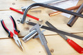 Metalwork tools lie on the workbench - PhotoDune Item for Sale