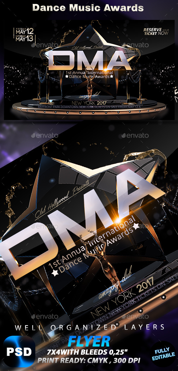 GraphicRiver Dance Music Awards 10297430