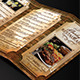 Vintage Restaurant Menu Trifold + Business Card - GraphicRiver Item for Sale