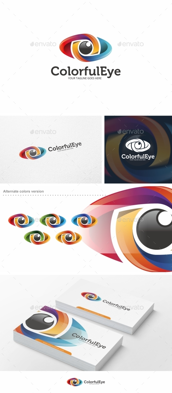 GraphicRiver Colorful Eye Logo Template 10297669