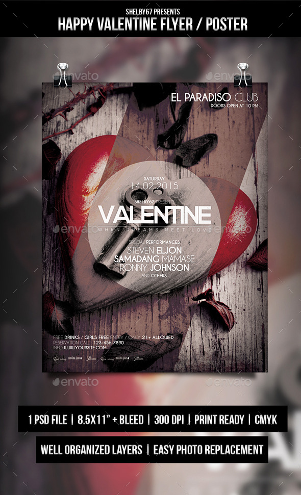 GraphicRiver Happy Valentine Flyer Poster 10297676