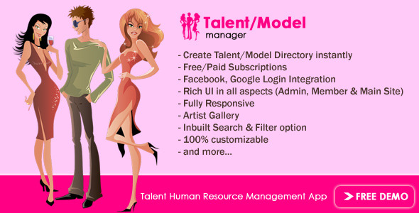 CodeCanyon Talent Model HR Manager 10298015