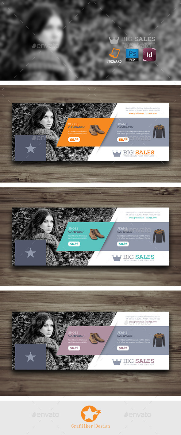 GraphicRiver Shopping Cover Templates 10298031