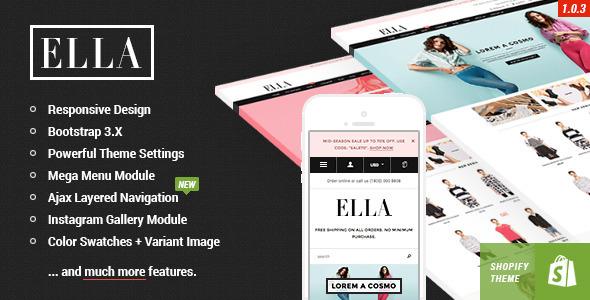 Ella - Responsive Shopify Template Download