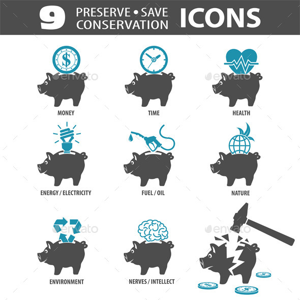 GraphicRiver Preserve Save Icons 10298341
