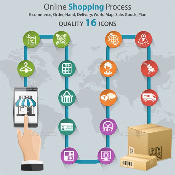 GraphicRiver Internet Shopping Infographic 10298342
