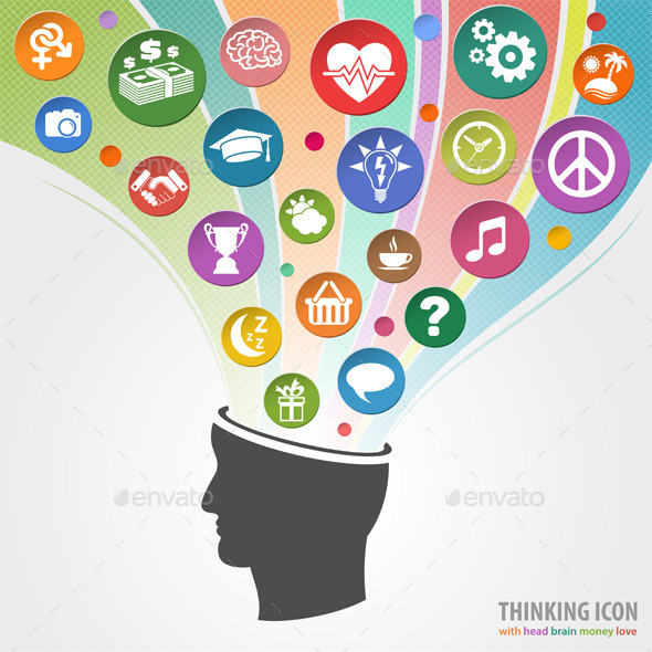 GraphicRiver Thinking Head Icon 10298347