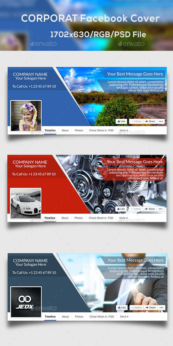 GraphicRiver Corporat Facebook Timeline cover 10298435