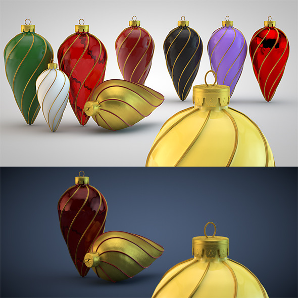 3DOcean Christmas Decoration Kit HiRes 7 1036884