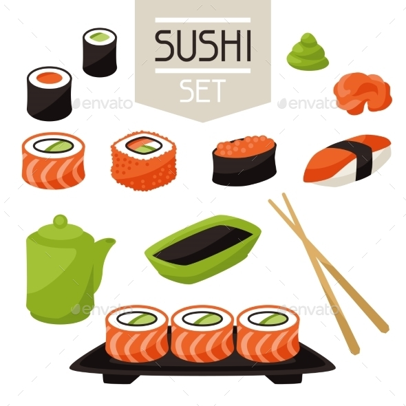 GraphicRiver Sushi 10298647