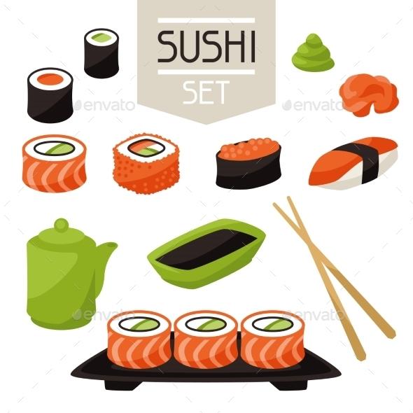 GraphicRiver Sushi 10298647