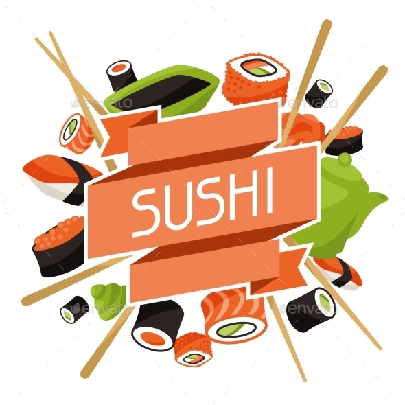 GraphicRiver Background with Sushi 10298666