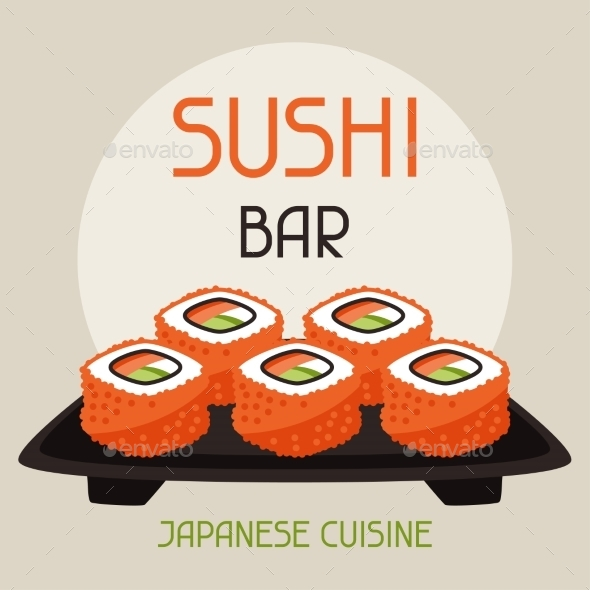 GraphicRiver Background with Sushi 10298669