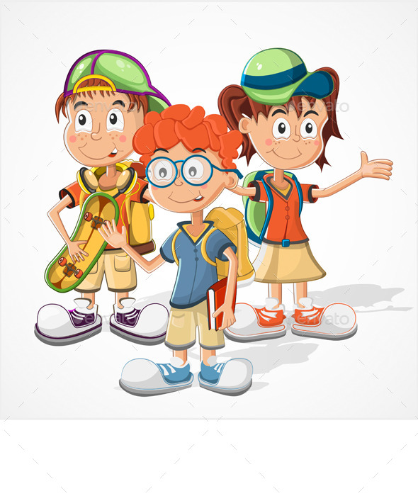 GraphicRiver Schoolchildren Vector 10298725