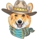 Hipster Dog Pembroke Welsh Corgi  - GraphicRiver Item for Sale