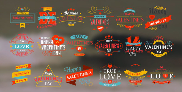 Happy Valentine s Day Badges Pack