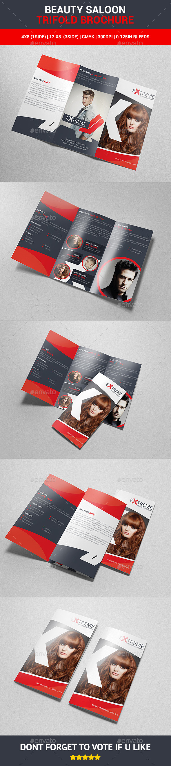 Beauty Saloon Trifold Brochure