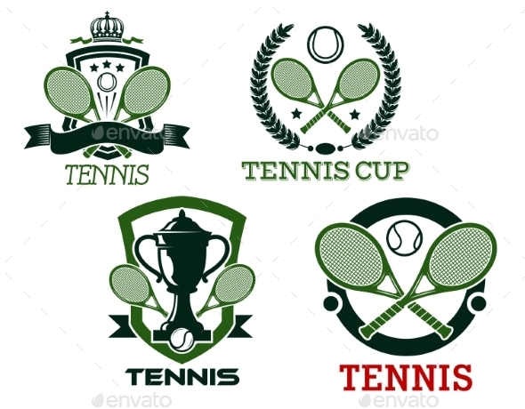 GraphicRiver Tennis Icons and Symbols 10298878