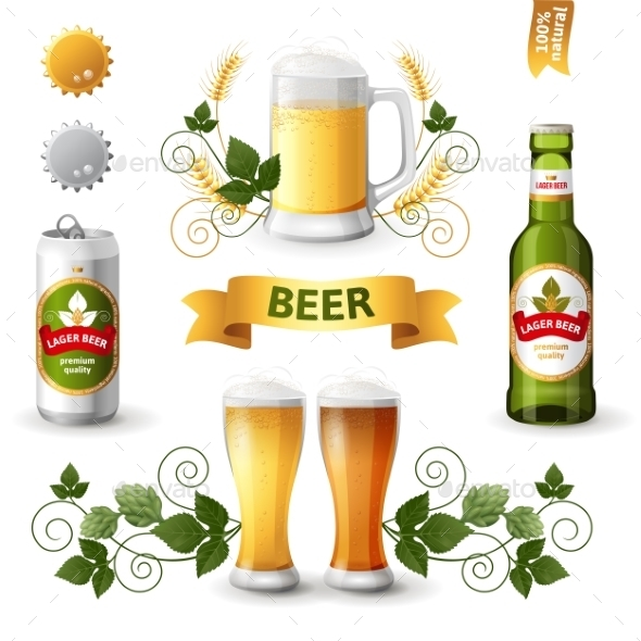 GraphicRiver Beer Emblems 10299065