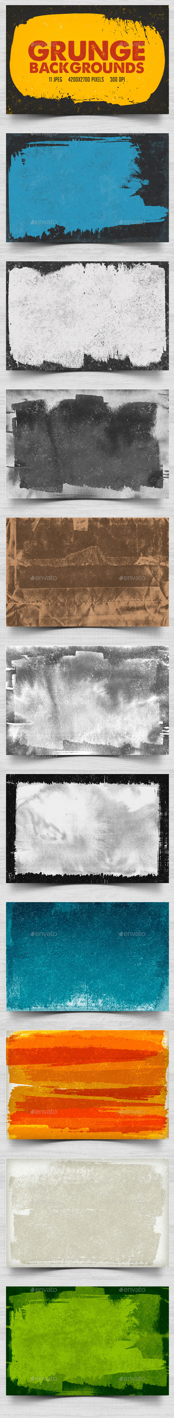 GraphicRiver Grunge Backgrounds 10299297