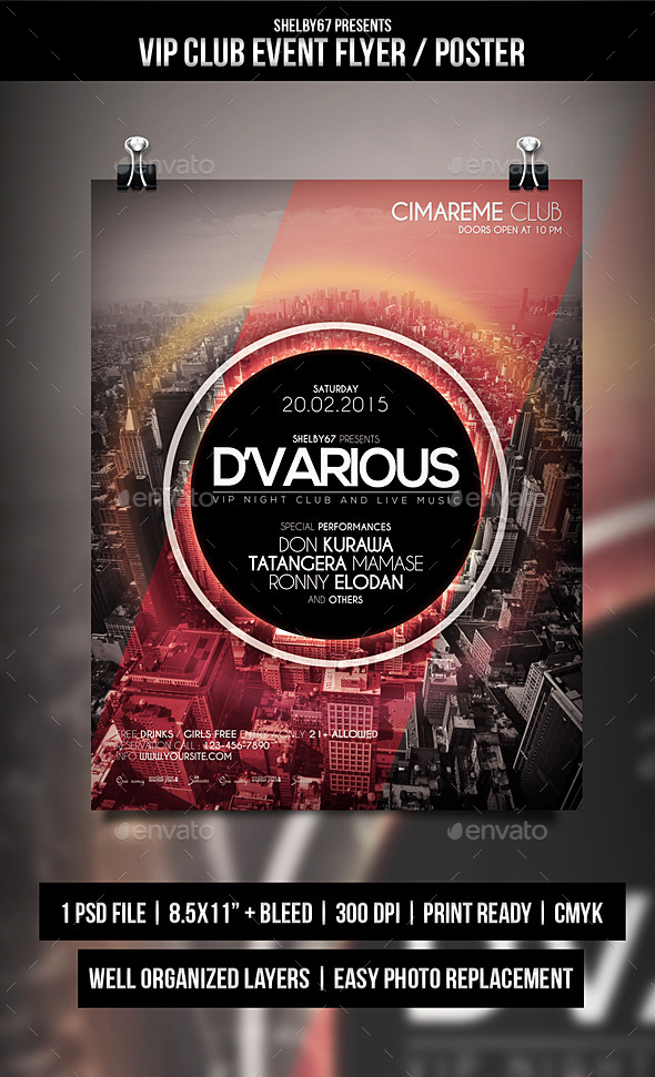 GraphicRiver VIP Club Event Flyer Poster 10299468