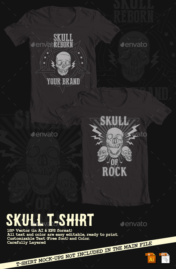 GraphicRiver Skull T-Shirt 10299495