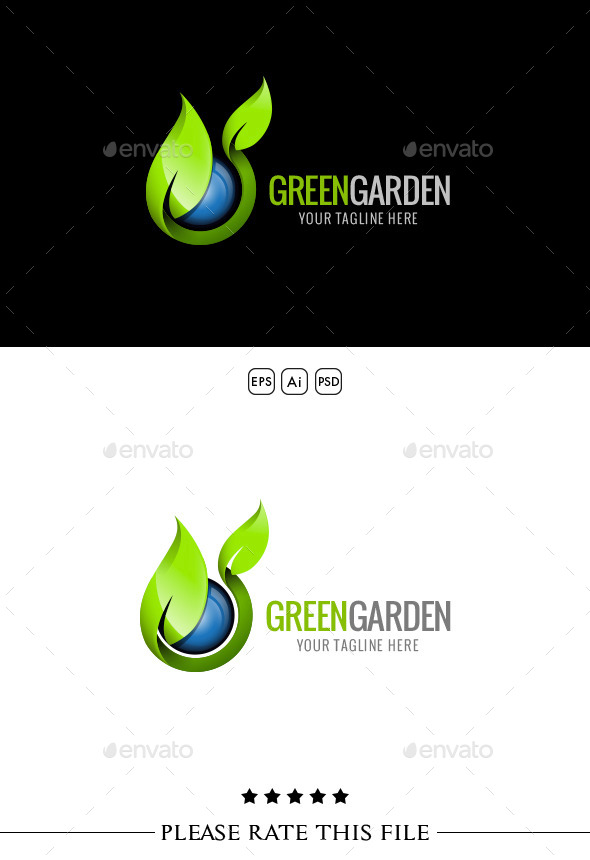 GraphicRiver Green Garden Logo 10299534