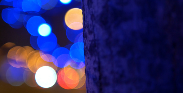 Tree and Blue Lights 4