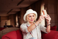 Pretty Smiling Woman Taking Selfie Photo - PhotoDune Item for Sale