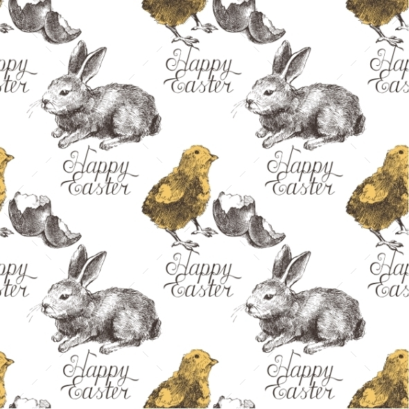GraphicRiver Easter Seamless Pattern 10299830