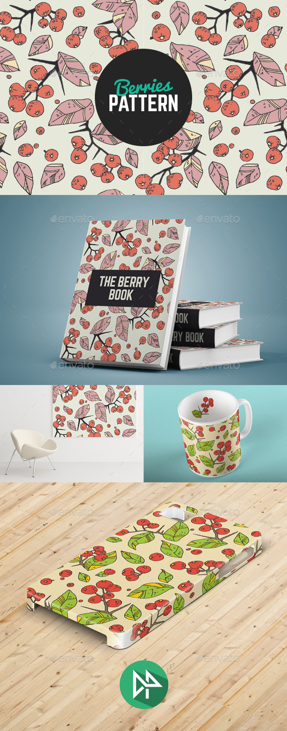 GraphicRiver Berries Pattern 10272474
