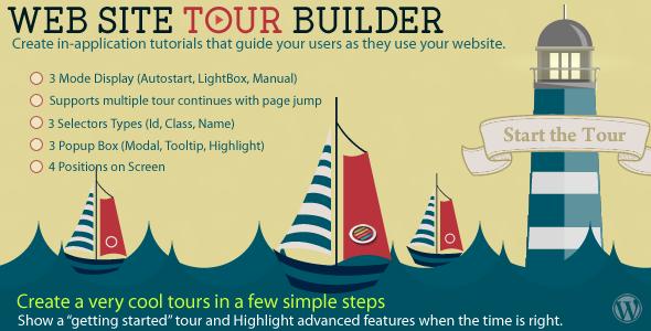 CodeCanyon - Web Site Tour Builder For Wordpress v1.1