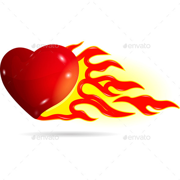 GraphicRiver Heart on Fire 10300019