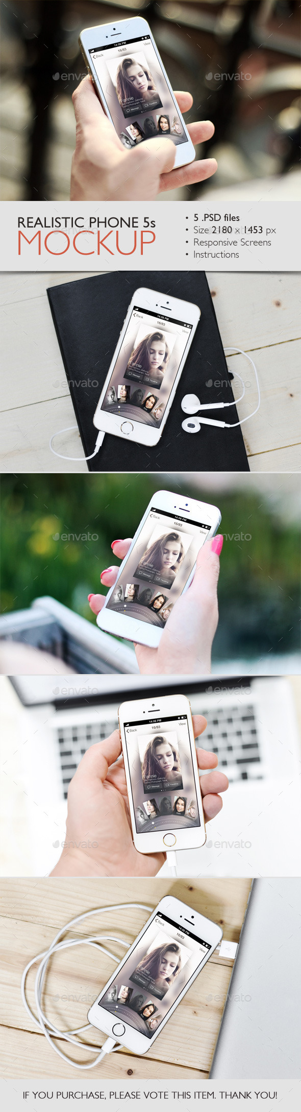 GraphicRiver Realistic Phone 5s Mockup 10300132